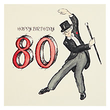 Buy Art Beat Put Your Top Hat On 80th Birthday Card Online at johnlewis.com