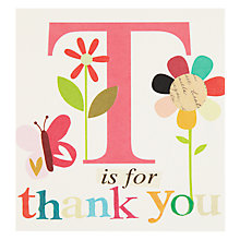 Buy Caroline Gardner Flowers and Butterflies Thank You Card Online at johnlewis.com