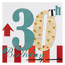 Buy Black Olive 30th Birthday Card Online at johnlewis.com
