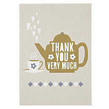 Buy Velvet Olive Thank U Very Much Thank You Card Online at johnlewis.com