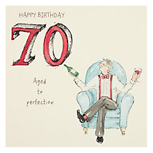 Buy Art Beat Aged To Perfect 70th Birthday Card Online at johnlewis.com