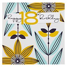 Buy Black Olive 18th Birthday Card Online at johnlewis.com