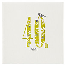 Buy The Art Rooms Love, Hearts and Flowers 40th Birthday Card Online at johnlewis.com