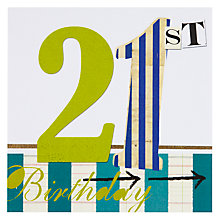 Buy Black Olive 21st Birthday Card Online at johnlewis.com