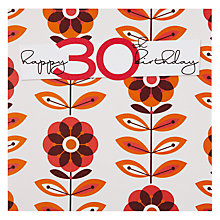Buy Black Olive Happy 30th Birthday Card Online at johnlewis.com