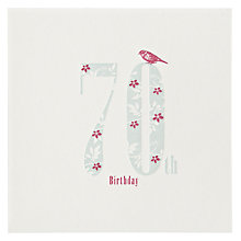 Buy The Art Rooms Love, Hearts and Flowers 70th Birthday Card Online at johnlewis.com