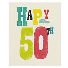 Buy Art File Happy 50th Birthday Card Online at johnlewis.com