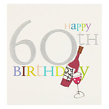Buy Caroline Gardner Wine 60th Birthday Card Online at johnlewis.com