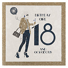 Buy Five Dollar Shake Girl 18th Birthday Card Online at johnlewis.com