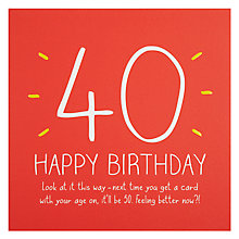 Buy Pigment 40th Happy Birthday Card Online at johnlewis.com