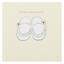 Buy Black Olive Shoes Christening Card Online at johnlewis.com