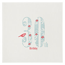 Buy The Art Rooms Love, Hearts and Flowers 30th Birthday Card Online at johnlewis.com