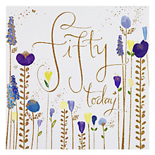 Buy Floral 50th Birthday Card Online at johnlewis.com