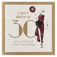 Buy Five Dollar Shake Happy 30th Birthday Card Online at johnlewis.com