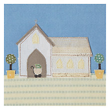 Buy Art Press Church Christening Card Online at johnlewis.com