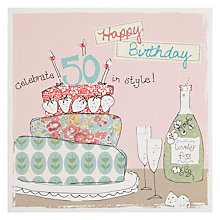 Buy Saffron 50th Birthday Card Online at johnlewis.com