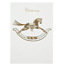 Buy Woodmansterne Rocking Horse Christening Card Online at johnlewis.com