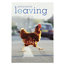 Buy Woodmansterne Chicken Cross The Road Leaving Card Online at johnlewis.com