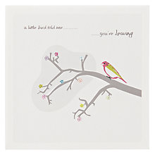Buy The Art Rooms Little Bird Leaving Card Online at johnlewis.com