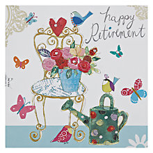 Buy Susan O'Hanlon Chair and Watering Can Retirement Card Online at johnlewis.com