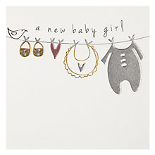 Buy Belly Button Designs Girl New Baby Card Online at johnlewis.com