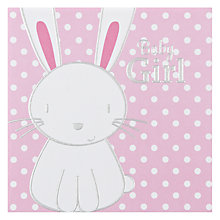 Buy Paperlink Baby Girl New Baby Card Online at johnlewis.com