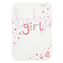 Buy Woodmansterne Baby Girl New Baby Card Online at johnlewis.com