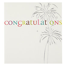 Buy Caroline Gardner Fireworks Congratulations Card Online at johnlewis.com