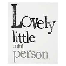 Buy Really Good Love Little Mini Person New Baby Card Online at johnlewis.com