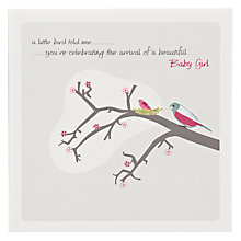Buy The Art Rooms Little Bird New Baby Card Online at johnlewis.com