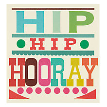 Buy Caroline Gardner Hip Hip Hooray Congratulations Card Online at johnlewis.com