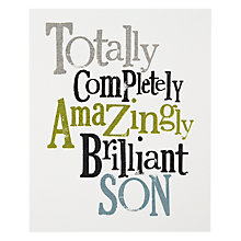 Buy Really Good Brilliant Son Birthday Card Online at johnlewis.com