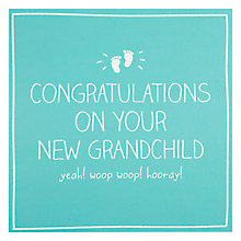 Buy Pigment New Grandchild New Baby Card Online at johnlewis.com