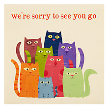 Buy Paperhouse Sorry To See You Go Leaving Card Online at johnlewis.com