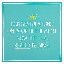 Buy Pigment Now The Fun Really Begin Retirement Card Online at johnlewis.com