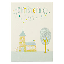 Buy Velvet Olive Christening Card Online at johnlewis.com