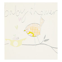 Buy Caroline Gardner Birds Baby Shower Card Online at johnlewis.com