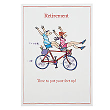 Buy Woodmansterne Couple With Feet Up Retirement Card Online at johnlewis.com