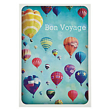 Buy Woodmansterne Hot Air Balloon Bon Voyage Card Online at johnlewis.com