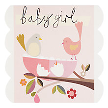 Buy Caroline Gardner Baby Girl New Baby Card Online at johnlewis.com