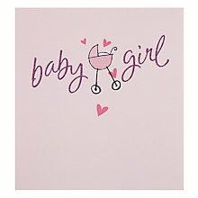 Buy Hotchpotch Baby Girl New Baby Card Online at johnlewis.com