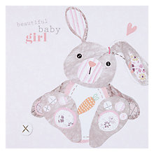 Buy Black Olive Baby Bunny New Baby Card Online at johnlewis.com