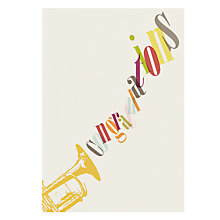 Buy Card Mix Trumpet Congratulations Card Online at johnlewis.com