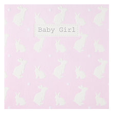 Buy Saffron Pink Rabbits New Baby Card Online at johnlewis.com