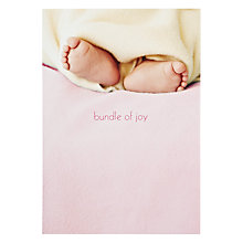 Buy Woodmansterne Snug As A Bug New Baby Card Online at johnlewis.com