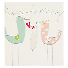 Buy Caroline Gardner New Family New Baby Card Online at johnlewis.com