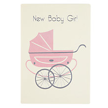 Buy James Ellis Stevens Girl Pram New Baby Card Online at johnlewis.com
