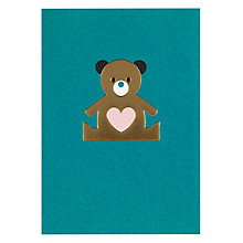 Buy Lagom Designs Baby Bear New Baby Card Online at johnlewis.com