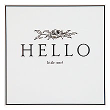 Buy Pigment Hello Little One New Baby Card Online at johnlewis.com