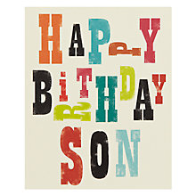 Buy Art File Happy Birthday Son Birthday Card Online at johnlewis.com